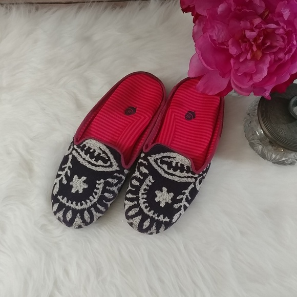 Acorn Embroidered House Shoes Slippers